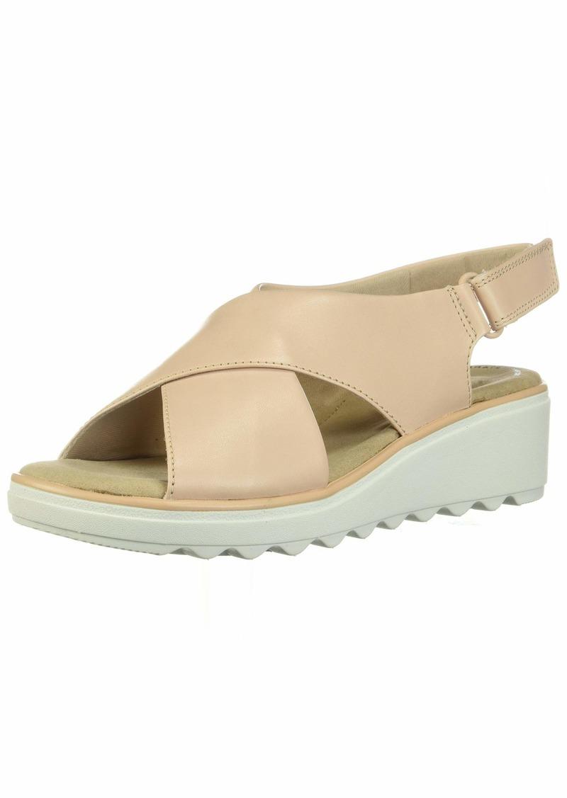 Clarks Women's Jillian Jewel Wedge Sandal  095 W US