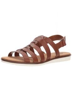 CLARKS Women's Kele Jasmine Sandal tan Leather  Medium US