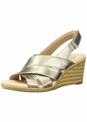 Clarks Women's Lafley Krissy Espadrille Wedge Sandal  0 M US