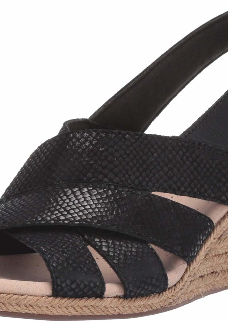 Clarks Women's Lafley Krissy Espadrille Wedge Sandal  00 M US