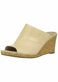 Clarks Women's Lafley Wave Wedge Sandal Blush Leather/Suede Combi 065 M US