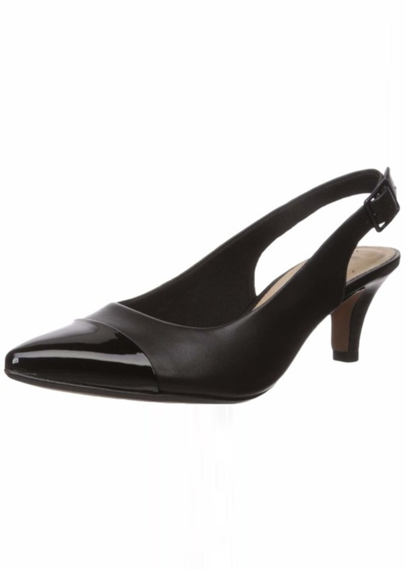 Clarks Women's Linvale Emmy Pump Black Leather/Synthetic 0 M US