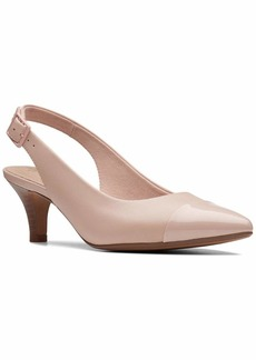 CLARKS Women's Linvale Emmy Pump Dusty Pink Leather/Synthetic  M US