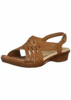 CLARKS Women's Loomis Cassey Sandal tan Leather 00 M US