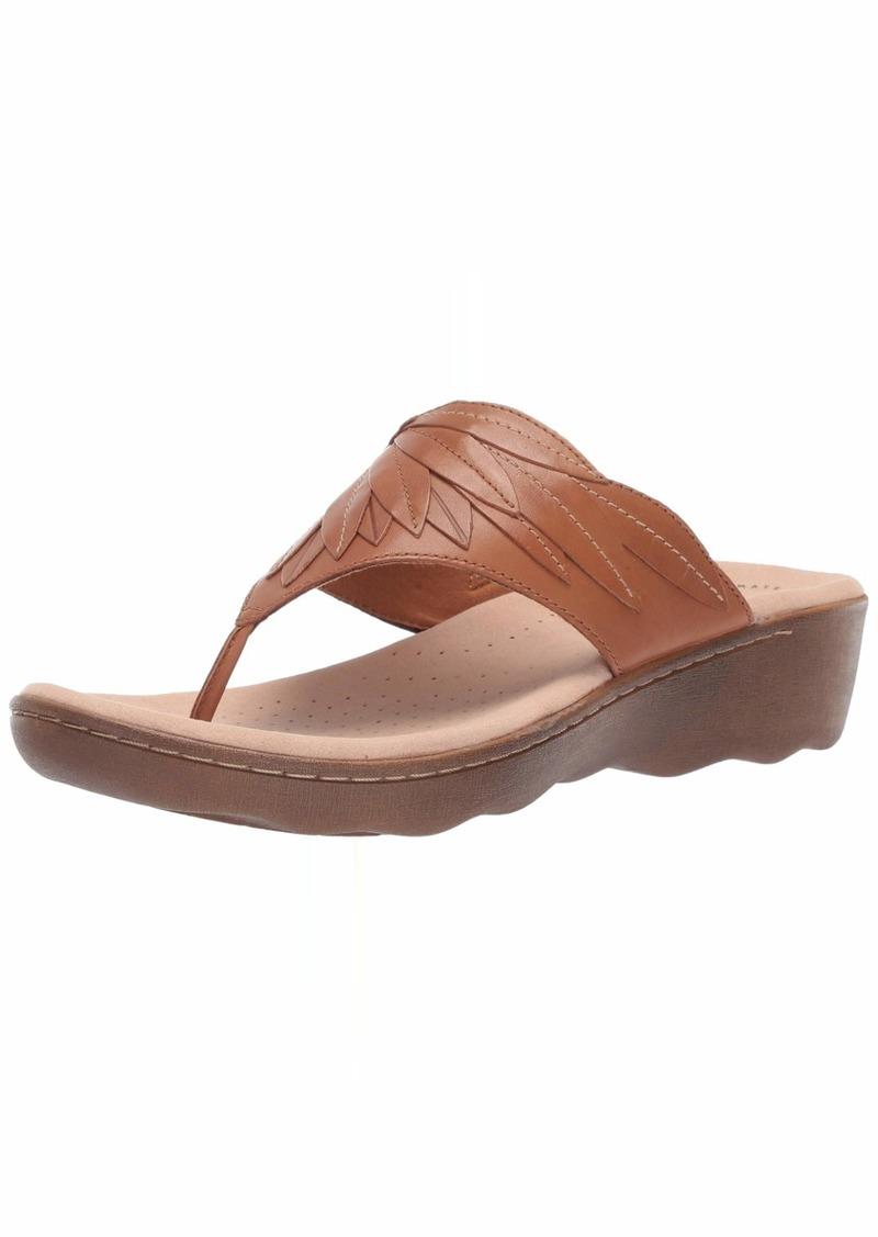 Clarks Women's Phebe Pearl Flip-Flop tan Leather 055 M US