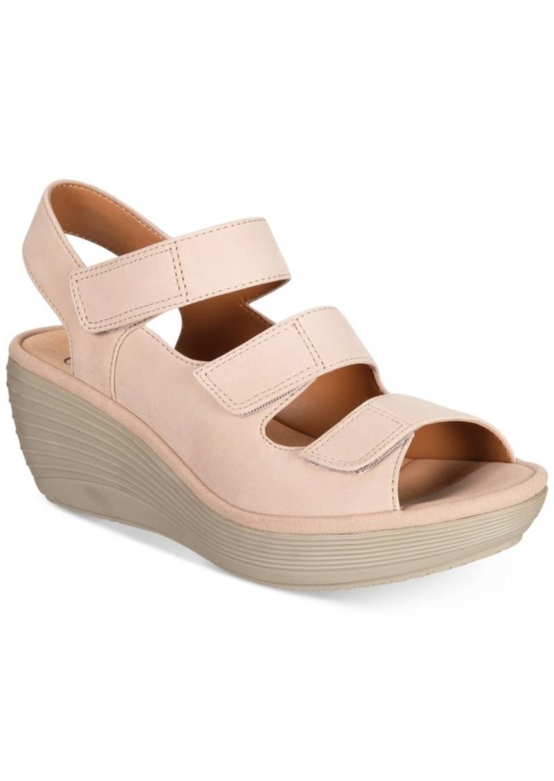 36dc2962 Clarks Clarks Women's Reedly Juno Wedge Sandals Women's Shoes Now $42.93