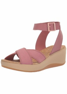 Clarks Women's Step Cali Coast Wedge Sandal  65 M US