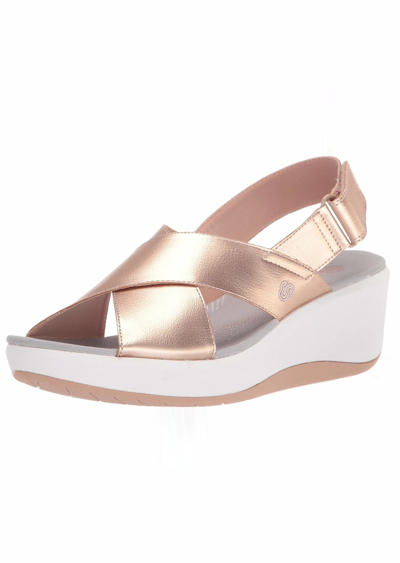 Clarks Women's Step Cali Cove Sandal Rose gold synthetic 0 M US