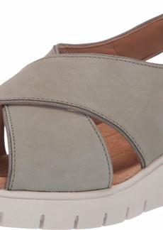 CLARKS Women's Un Karely Sun Sandal sage Nubuck  M US