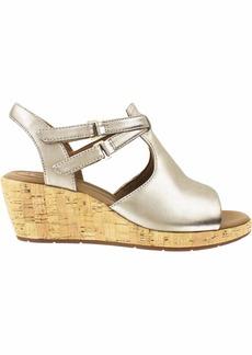 CLARKS Women's Un Plaza Way Wedge Sandal  0 M US
