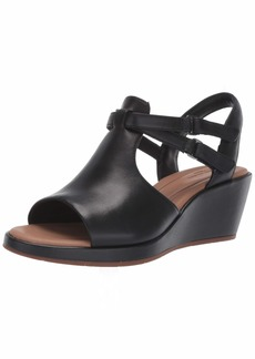CLARKS Women's Un Plaza Way Wedge Sandal  65 M US