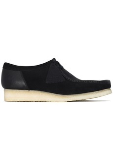 Clarks Wallabee contrasting-panel lace-up shoes