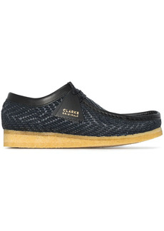 Clarks Wallabee raffia lace-up shoes