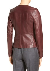 Classiques Entier® Asymmetrical Zip Fitted Leather Jacket (Regular & Petite)