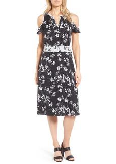 Classiques Entier® Cold Shoulder Stretch Silk Dress
