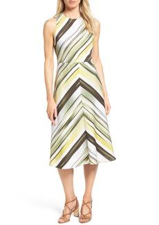 Classiques Entier® Ikat Stripe A-Line Stretch Silk Dress