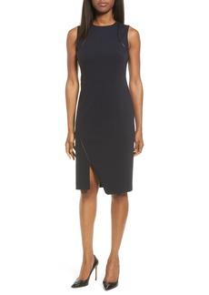 Classiques Entier® Leather Trim Italian Ponte Knit Dress