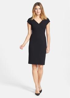 Classiques Entier® Ponte Knit V-Neck Sheath Dress (Regular & Petite)