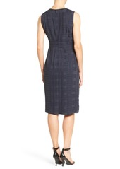 Classiques Entier® Shaded Plaid Pleat Front Dress