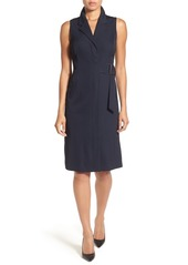 Classiques Entier® Sleeveless Belted Faux Wrap Dress