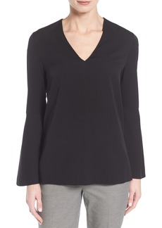 Classiques Entier® Stretch Silk Bell Sleeve Blouse