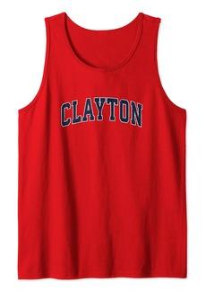 Clayton Missouri MO Vintage Sports Design Navy Design Tank Top