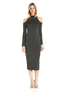 CLAYTON Women's Ashtyn Cold Shoulder Midi Dress