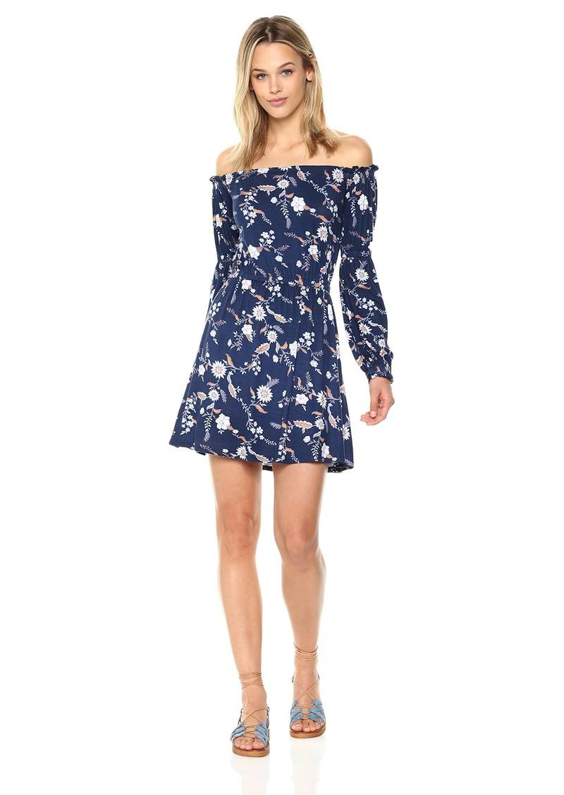 CLAYTON Womens Ashtyn Cold Shoulder Midi Dress