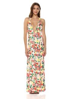 CLAYTON Womens Sydney Lace-Up Maxi Dress