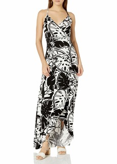CLAYTON Women's  Leaf DITA Wrap Maxi Dress