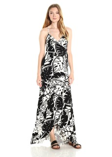 CLAYTON Women's  Leaf DITA Wrap Maxi Dress