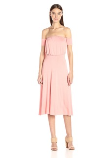 CLAYTON Women's Margaret Off The Shoulder Midi Dress