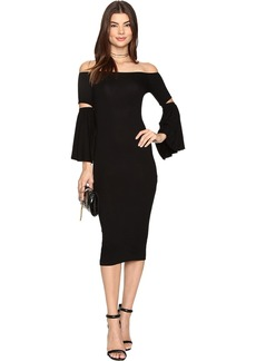 CLAYTON Women's Tabatha Off The Shoulder Bell Sleeve Dress