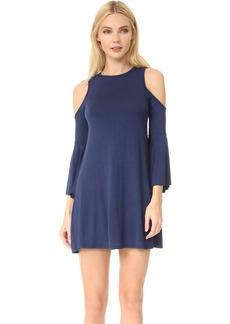 CLAYTON Women's Tala Cold Shoulder Bell Sleeve Dress