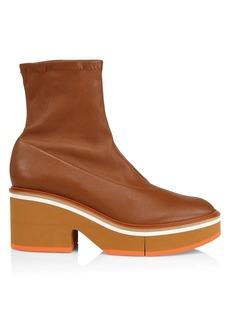 Clergerie Albane Leather Block Platform Boots