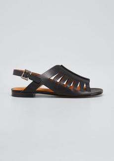Clergerie Paris Isaura 15mm Laser-Cut Sandals