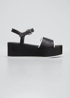 Clergerie Paris Mori Two-Tone Wedge Platform Sandals