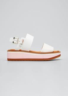 Clergerie Paris Two-Band Slingback Platform Sandals