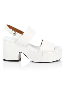 Clergerie Cora Leather Platform Slingback Sandals