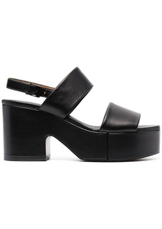 Clergerie Cora leather sandals