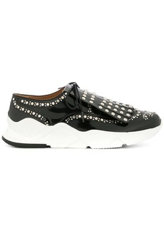 Clergerie embellished lace-up sneakers