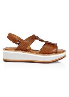 Clergerie Franzy Leather Platform Sandals
