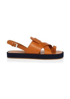 Clergerie Greta Leather Slingback Sandals