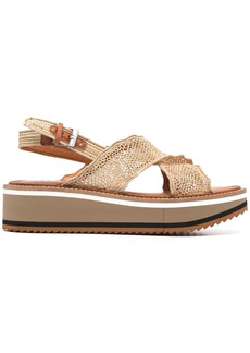 Clergerie perforated crossover-strap sandals