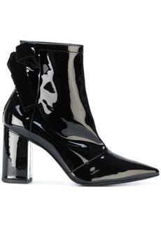 Robert Clergerie x Self Portrait velvet bow ankle boots
