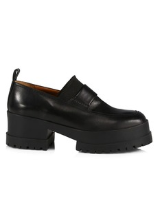 Clergerie Waelly Leather Platform Shoes