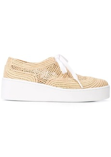 Clergerie woven platform sneakers