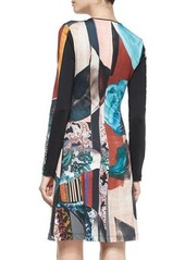 Clover Canyon Autumn Stripe Long-Sleeve Dress