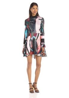 Clover Canyon Sportswear Women's Autumn Stripe Mockneck Dress