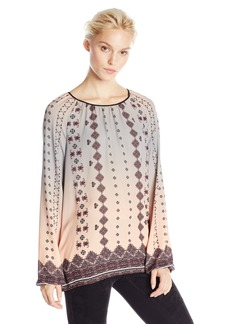 Clover Canyon Sportswear Women's Embroidered Ombre Blouse